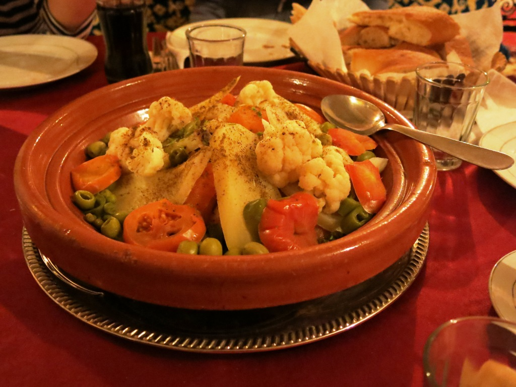 Tagine dinner at Hotel Tamlalte