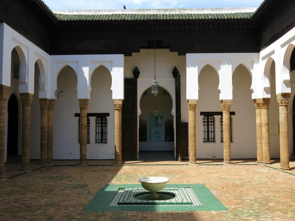 Courtyard in Kasbah Udayas Museum
