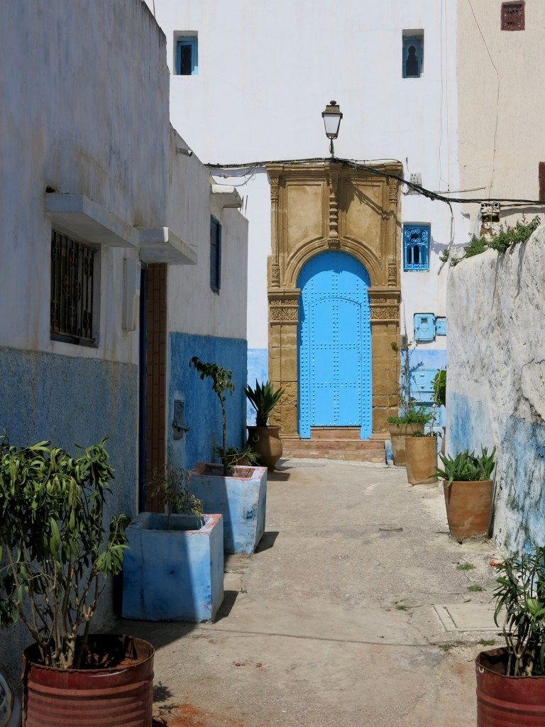 Blue and white walls in Rabat