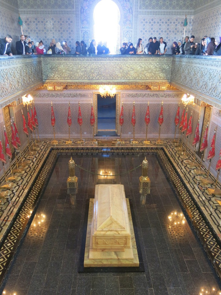 Inside Mausoleum of Mohammed V