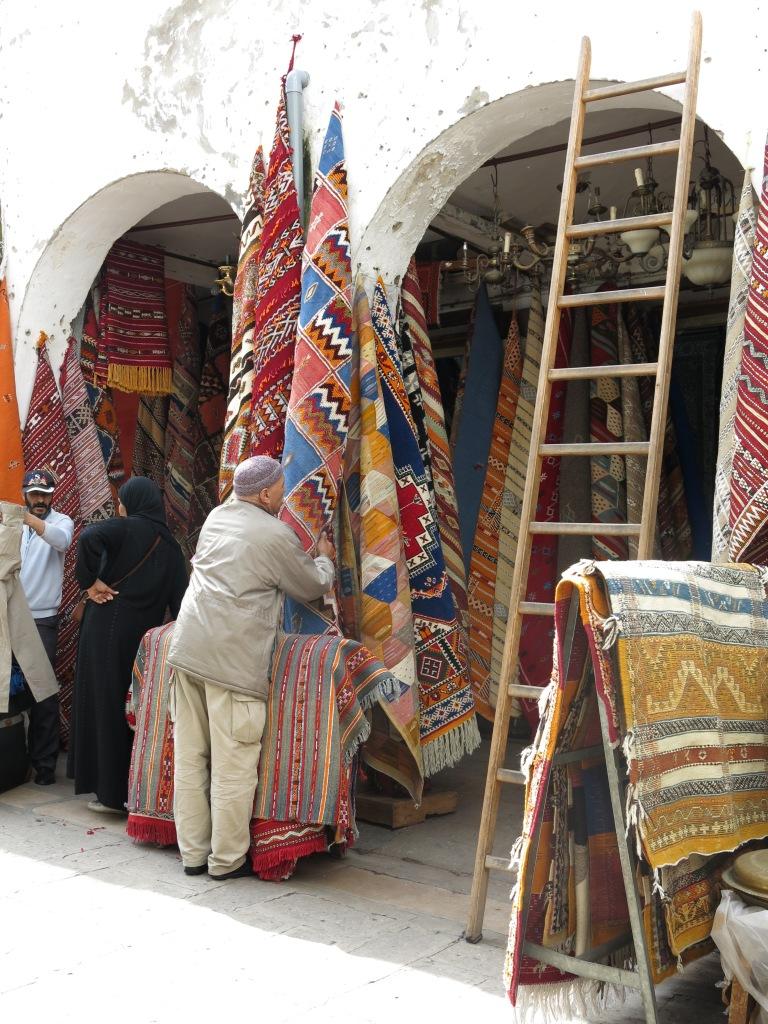 Rugs in Habous market, Casablanca