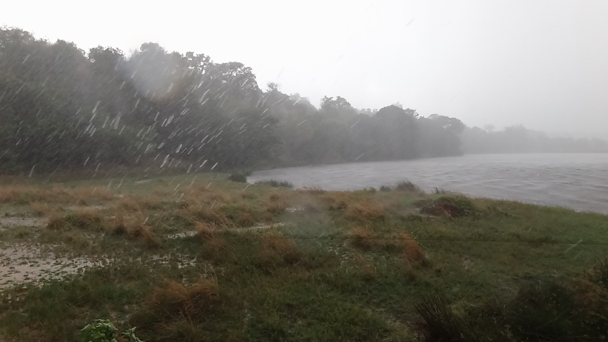 Hail storm on Paraa Lodge Boat Tour