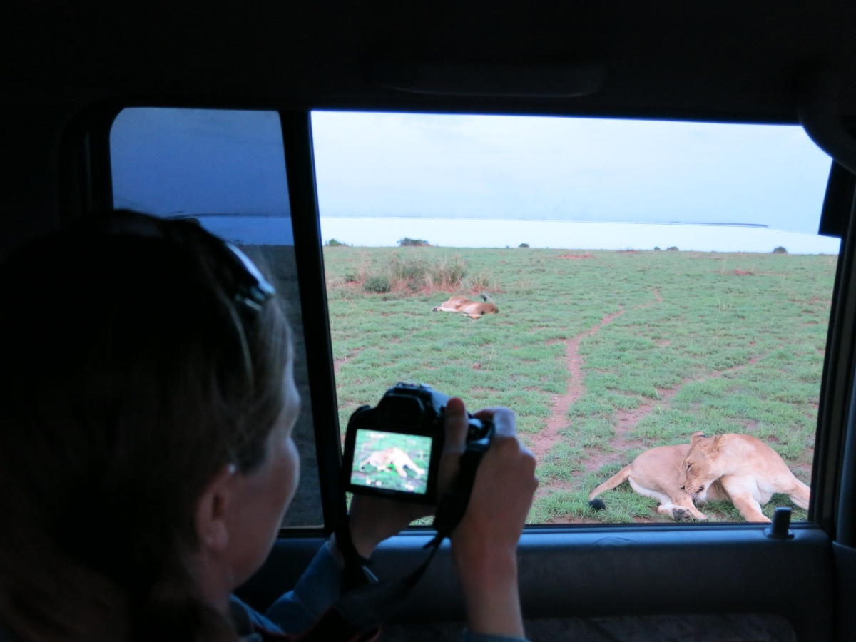 Taking pictures at Murchison Falls National Park