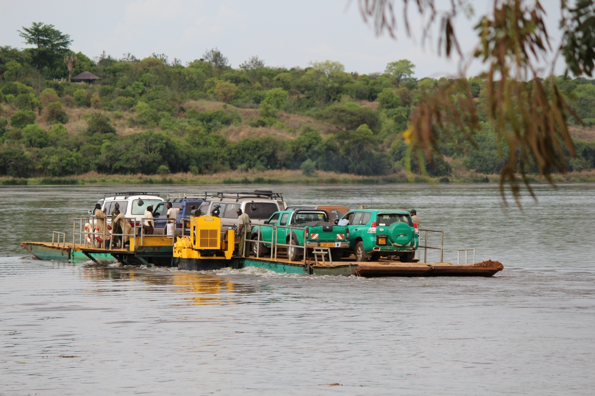 Ferry to Paraa Safari Lodge at Murchison Falls National Park