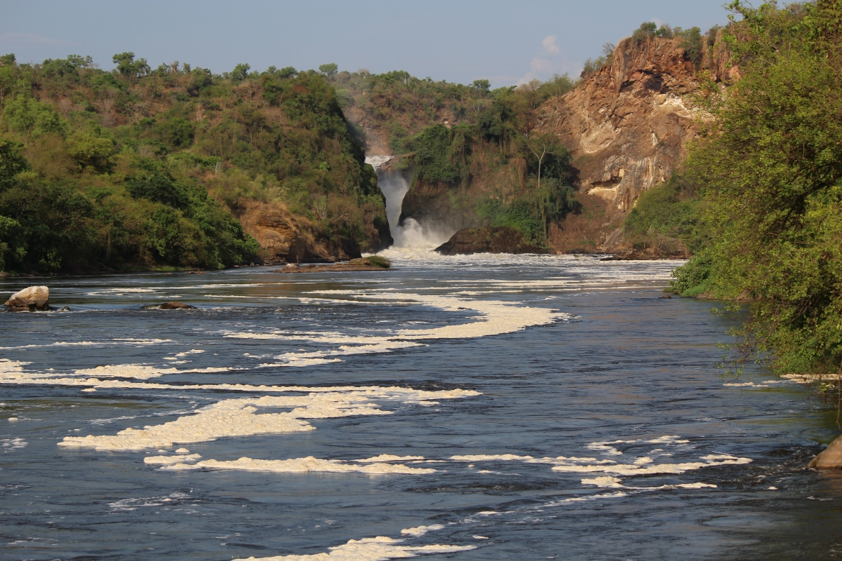 Murchison Falls from Paraa Lodge Boat Tour