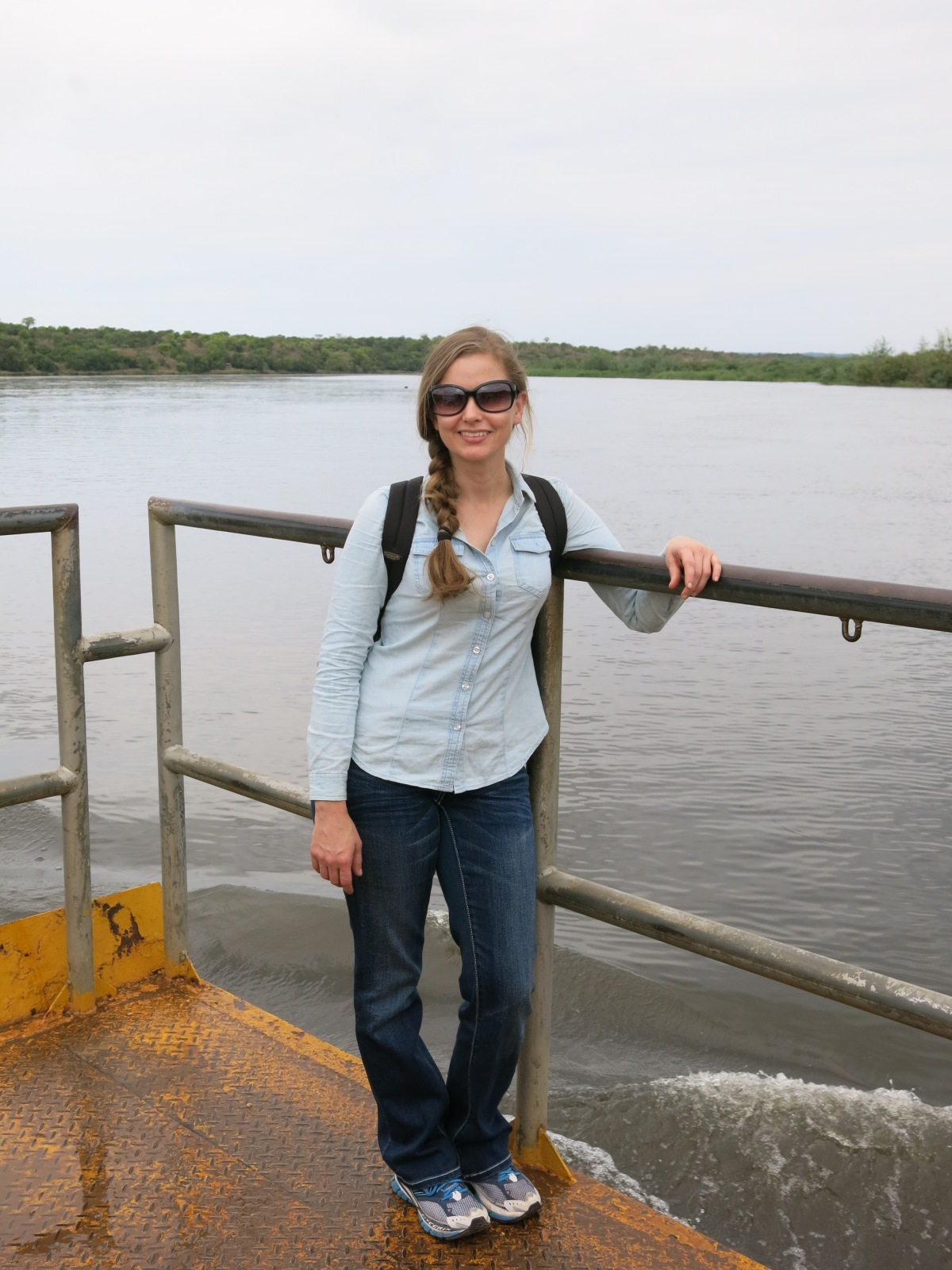 Crossing Nile to Paraa Safari Lodge in Murchison Falls National Park