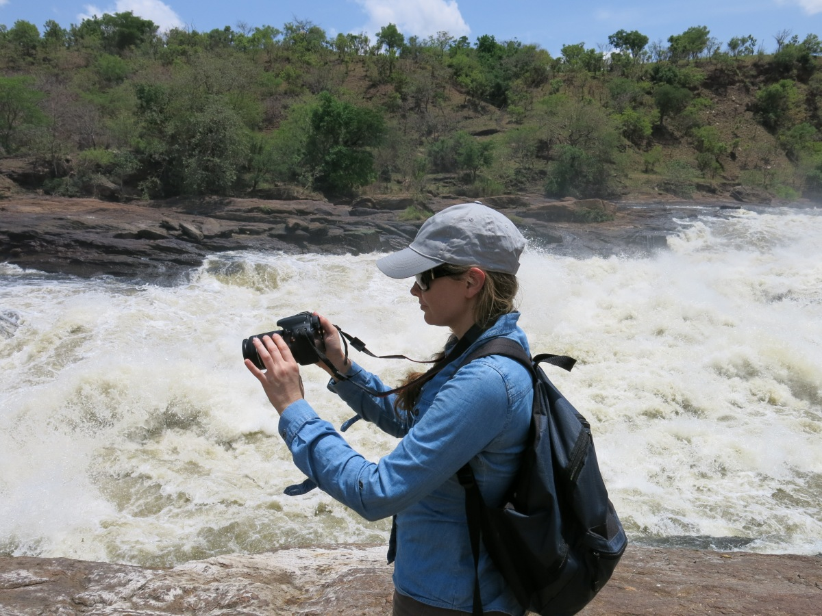 Taking pictures at Murchison Falls