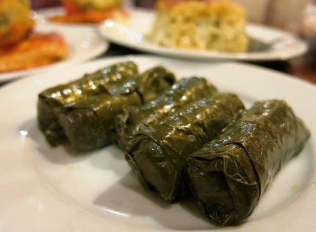 Stuffed grape leaves, Istiklal Street, Istanbul