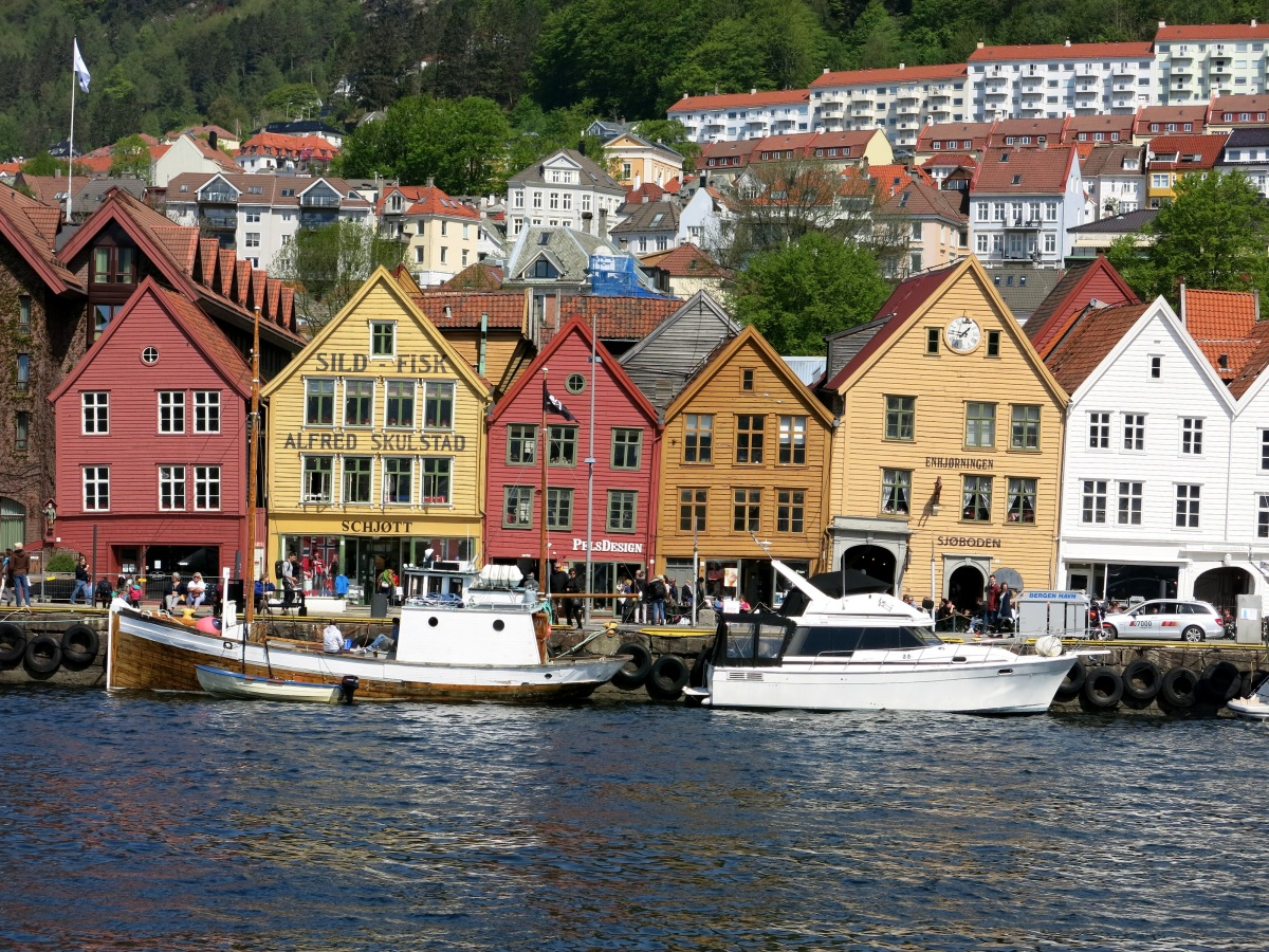 Row houses in Bergen, Norway