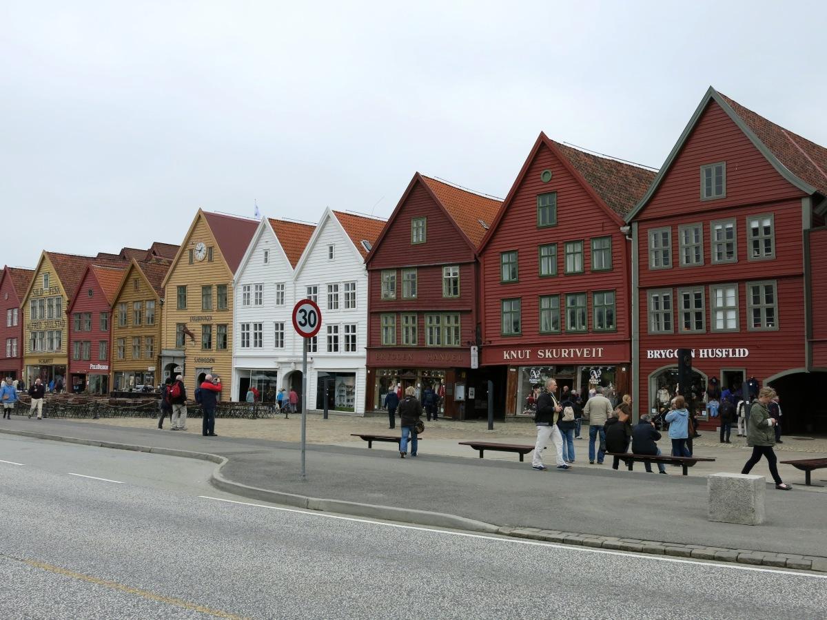 Row houses in Bergen, Norway