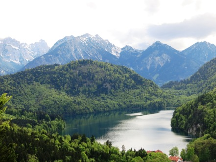 View near Neuschwanstein Castle