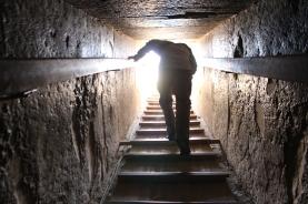 Exiting pyramid