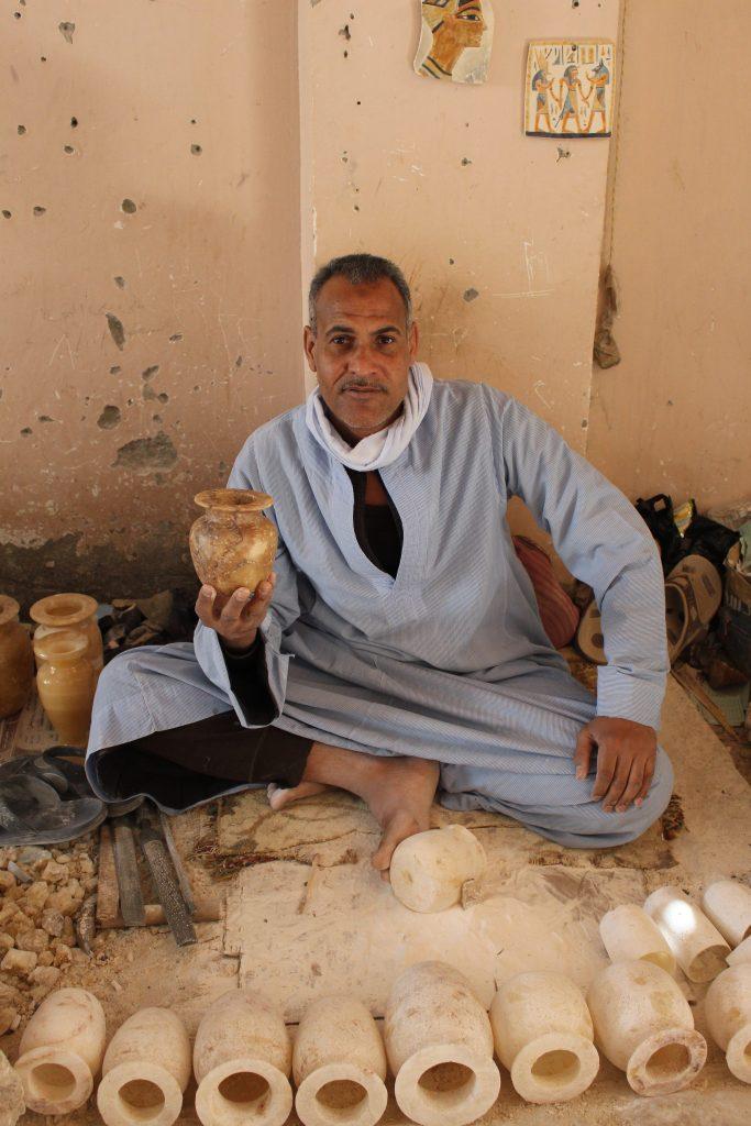 Maker of alabaster bowls