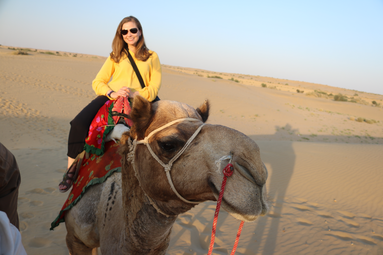 Camel selfie in Jaisalmer, India