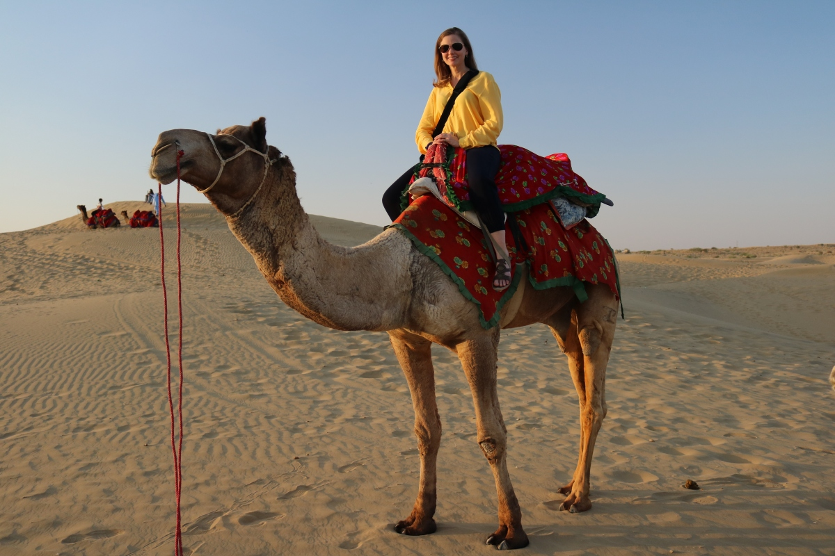 Camel ride in Jaisalmer, India