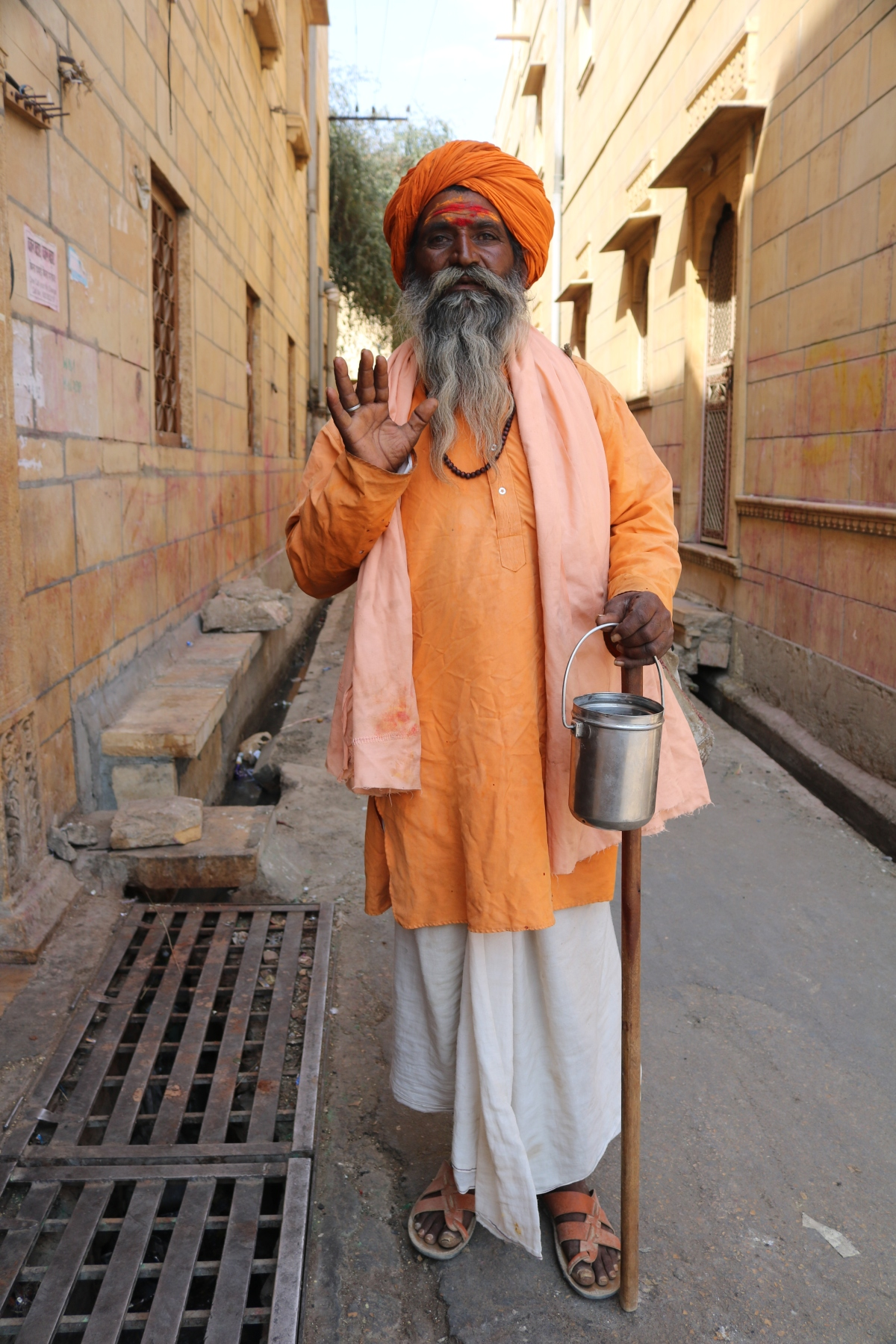 Sadhu in Jaisalmer, India