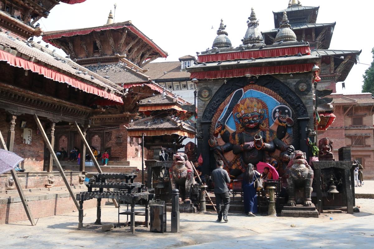 Kala Bhairav Statue in Kathmandu Durbar Square
