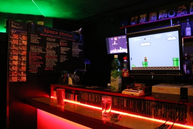 video game cafe, Osaka